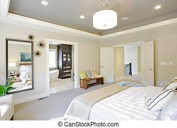 otthon, fényűzés, hálószoba