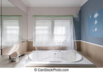 otthon, fürdőszoba, helyreállítás