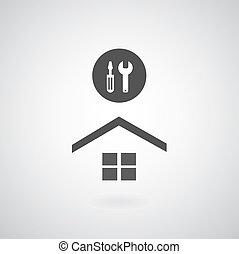 otthon, jelkép, rendbehozás