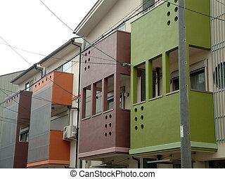 otthon, modern, japán
