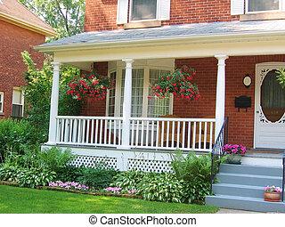 otthon, noha, veranda