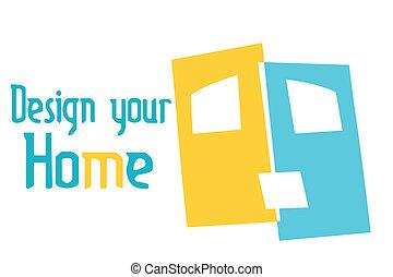 otthon, tervezés, -e