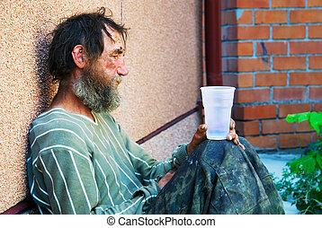 otthontalan, alkoholista, alatt, depresszió