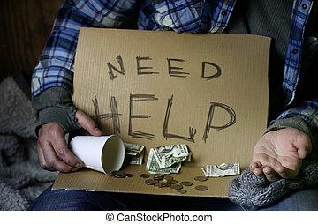 otthontalan, ember, kérdez, segítség