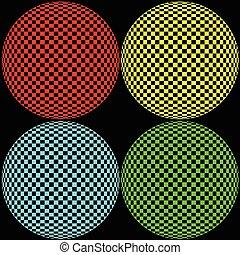 ottico, cerchio, illustrazione