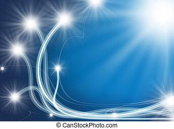 ottico, effetti, disegno, immagine, luce, fibra, lei
