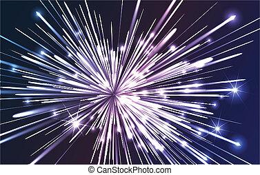 ottico, fibra, esplosione