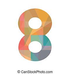otto, numero, colorito