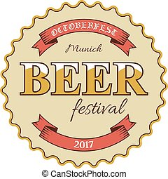 ottobre, illustration., festival, fest, birra, vettore, ...