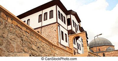 ottoman, architecture, /, beypazari, maisons