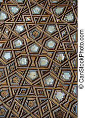 Ottoman art example of Mother of Pearl inlays from Turkey