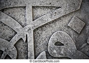 Ottoman calligraphy on marble