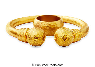 Ottoman gold bracelet and ring
