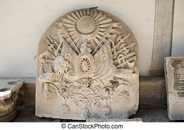 Ottoman marble carving art detail