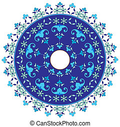 Ottoman motifs design series with f - Studied composition...