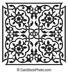 ottoman, oriental, conception, une