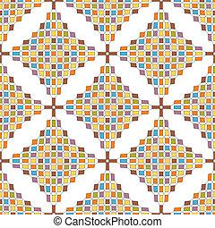 ottoman, seamless, modèle