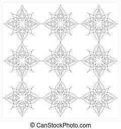 Ottoman Tile Art With Nine Islamic Element