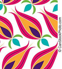ottoman, tulipe, modèle, seamsless