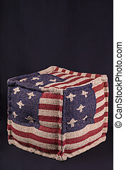Ottoman with American flag