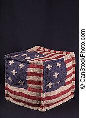 Ottoman with American flag
