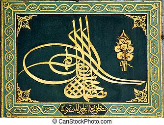 ottomano, imperiale, segno
