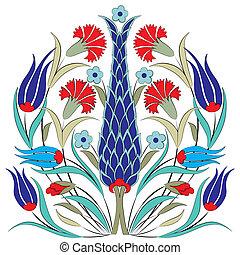 ottomano, sette, orientale, disegno
