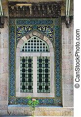 ottomano, stile, finestra
