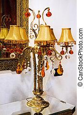 ottone, lampada