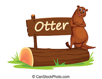 Ottur and name plate - illustration of Ottur and name plate...