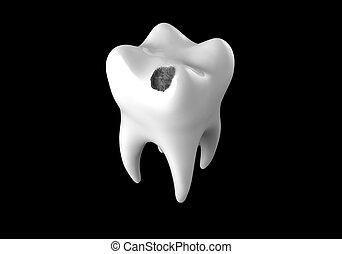 otwór, czarnoskóry, ludzki, ząb