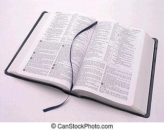 otwarta biblia, książka, 2