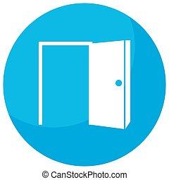 otwarte drzwi, sposobność, ikona