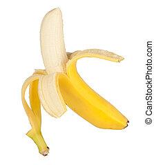 otwarty, banan