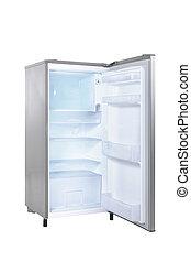 otwarty, jednorazowy, drzwi, lodówka