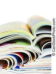 otwarty, magazyny, stos