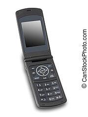 otwarty, odizolowany, cellphone