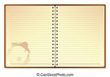 otwarty, pamiętnik