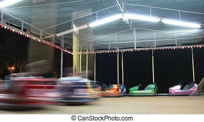 otwarty rynek, jazda, attraction., iść, dzieci, maszyny