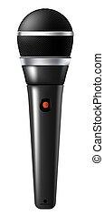 ou, étape, karaoke, microphone, enregistrement, équipement musique, studio