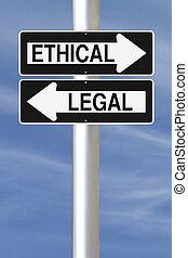 ou, éthique, légal