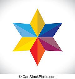 ou, étoile, coloré, résumé, signe, vecteur, symbol(icon)-,...