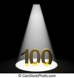 ou, 100th, or, une, nombre, représenter, cent, 3d, anniversaire