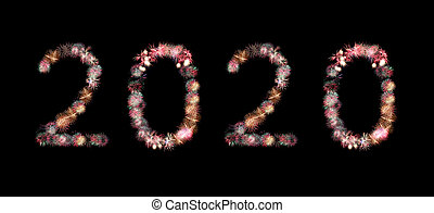 ou, 2020., pétard, feux artifice
