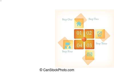 ou, bannières, nombre, layout., site web, template/graphic, conception, propre