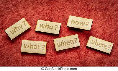 ou, brain-storming, prise décision, questions