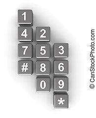 ou, concept, télécommunication, contact
