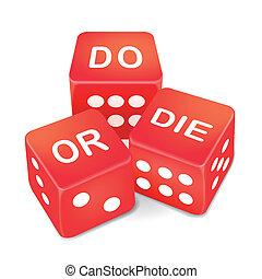ou, dés, trois, rouges, mots, mourir