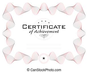 ou, diplôme, certificat, gabarit