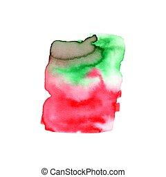 ou, elementos, fundo, impressão, abstratos, composição, aquarelas, teia, etiqueta, pintura aquarela, cores, usado, paper., molhados, scrapbook, mancha, mão, desenho, ilustração